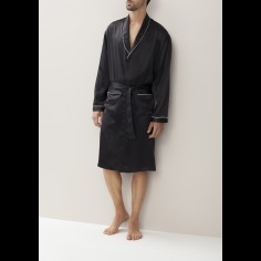 Zimmerli - ZN-37  Silk Robe - With Piping